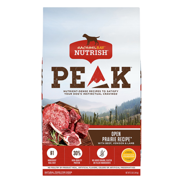 Rachael Ray Nutrish PEAK Raw Bites Dry Dog Food Open Range Natural