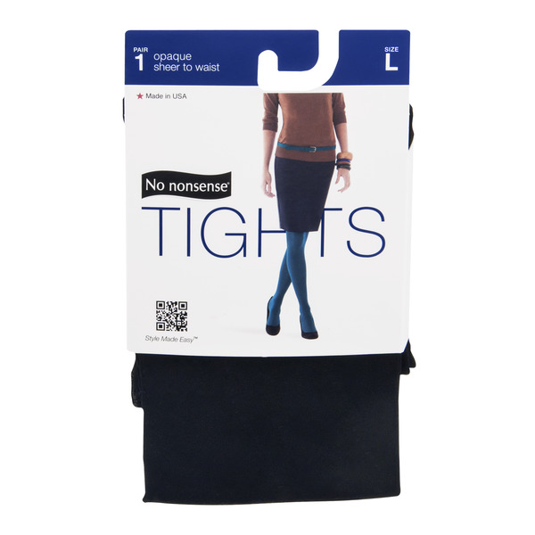 No nonsense Tights Opaque sheer to waist Size L Black