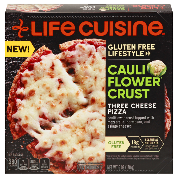 Life Cuisine Cauliflower Crust Pizza Three Cheese Gluten Free Lifestyle