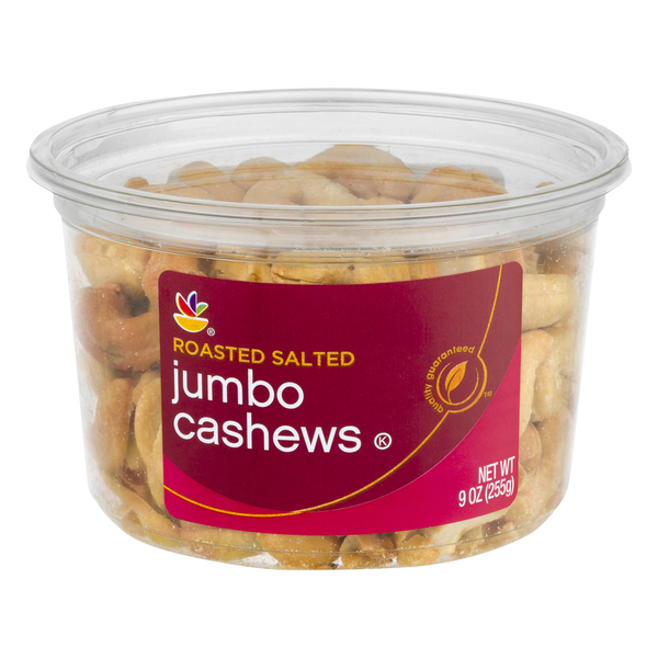 Stop & Shop Jumbo Cashews Roasted Salted