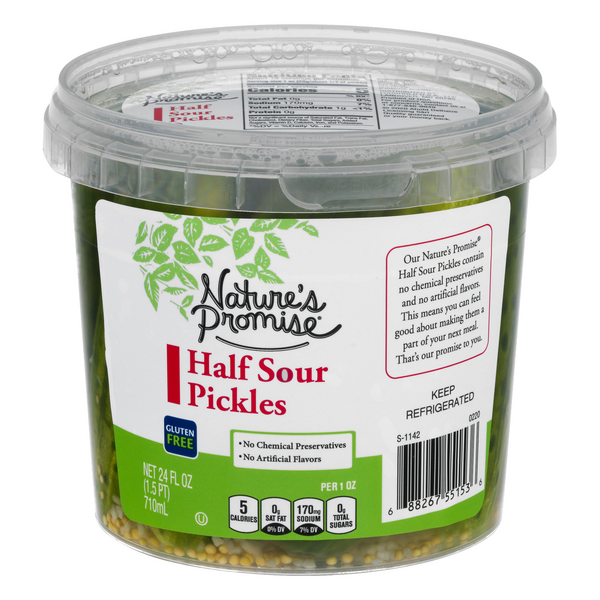 Nature's Promise Half Sour Pickles Gluten Free