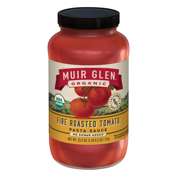 Muir Glen Pasta Sauce Fire Roasted Tomato No Sugar Added Organic
