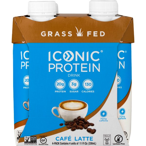 Iconic Protein Drink Caffe Latte - 4 pk