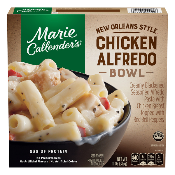 Marie Callender's Chicken Alfredo Bowl New Orleans Style