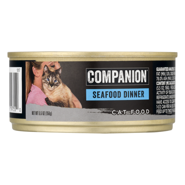 Companion Wet Cat Food Seafood Dinner