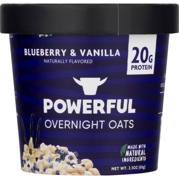 Powerful Overnight Oats Blueberry & Vanilla