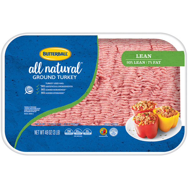 Butterball Ground Turkey 93% Lean All Natural