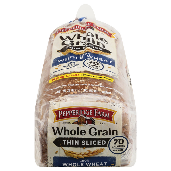 Pepperidge Farm Whole Grain Thin Sliced 100% Whole Wheat Bread