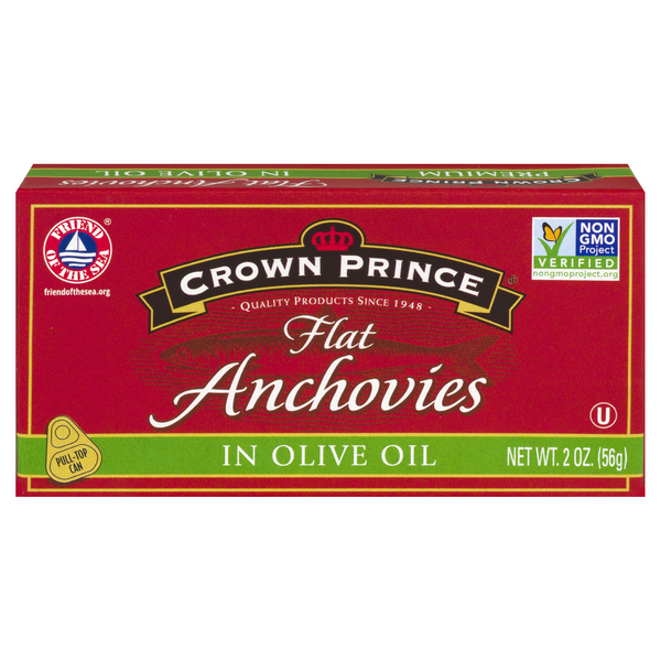 Crown Prince Anchovies Flat in Olive Oil