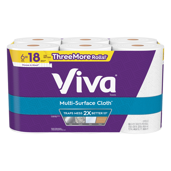 Viva Multi-Surface Cloth Paper Towels White