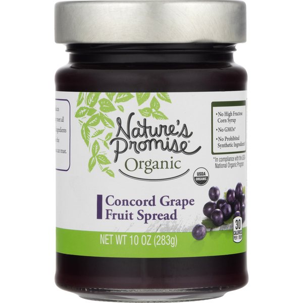 Nature's Promise Organic Fruit Spread Concord Grape