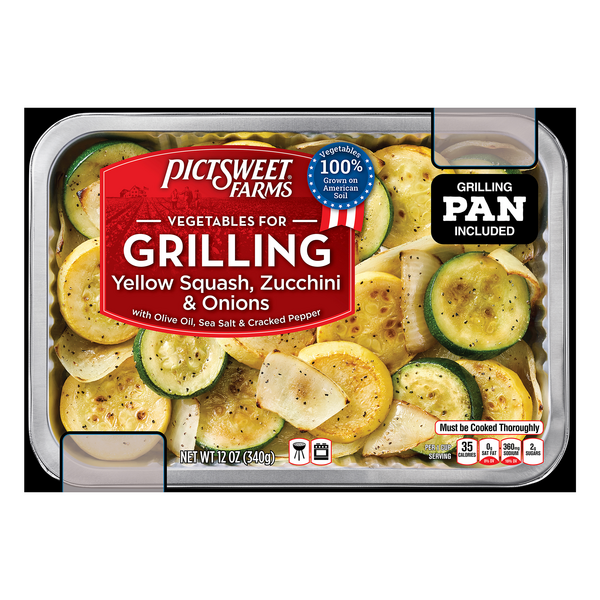 PicSweet Farms Vegetables for Grilling Yellow Squash Zucchini & Onions