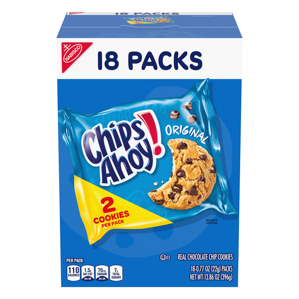 Nabisco Chips Ahoy! Cookies Chocolate Chip Original - 18 pk