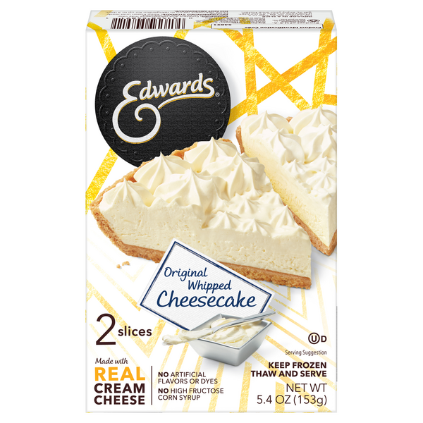 Edwards Whipped Cheesecake Original - 2 Slices
