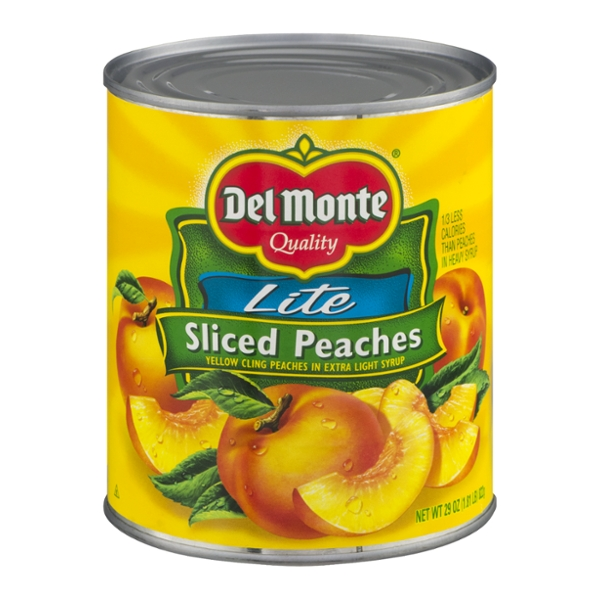 Del Monte Peaches Cling Sliced in Extra Light Syrup Lite