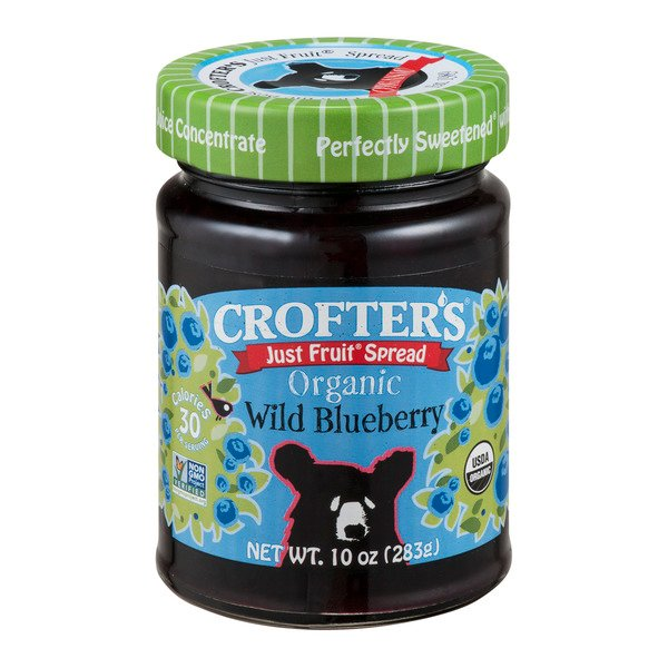 Crofter's Just Fruit Spread Wild Blueberry Organic
