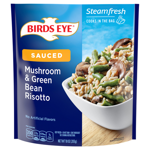 Birds Eye Steamfresh Sauced Mushroom & Green Bean Risotto
