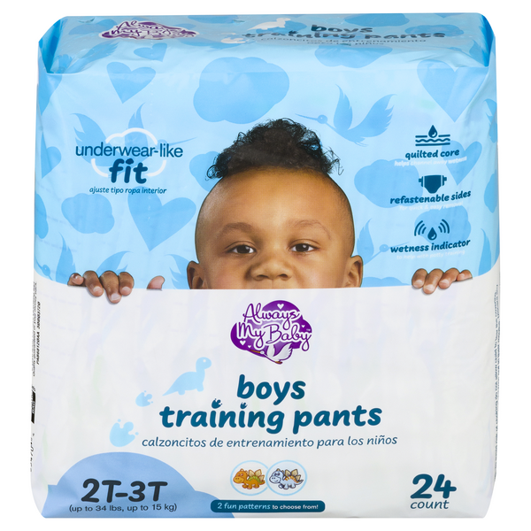 Always My Baby Boys 2T-3T Training Pants Up to 34 lbs
