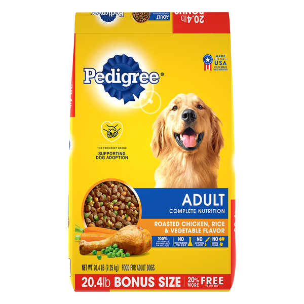 Pedigree Adult Nutrition Dry Dog Food Roasted Chicken Rice & Vegetable