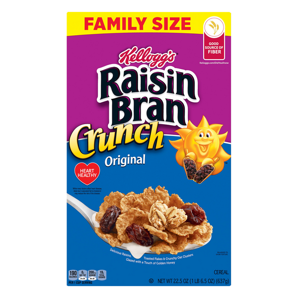 Kellogg's Raisin Bran Cereal Crunch Original Family Size