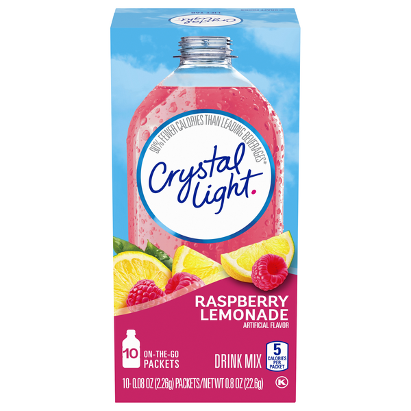 Crystal Light On-the-Go Drink Mix Packets Raspberry Lemonade - 10 ct
