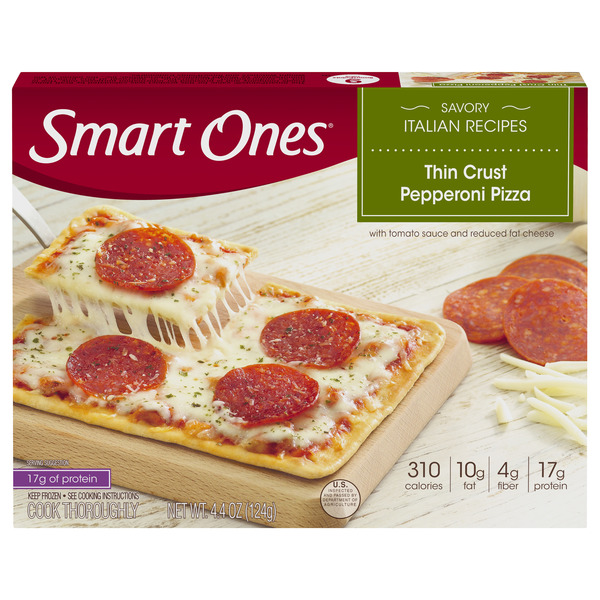 Smart Ones Savory Italian Recipes Thin Crust Pizza Pepperoni