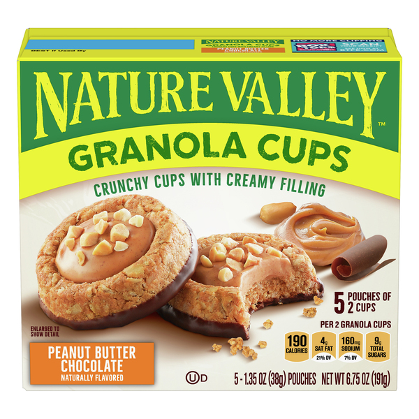 Nature Valley Granola Cups Peanut Butter Chocolate - 5 ct