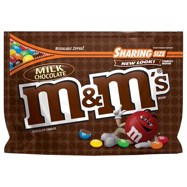 M&M's Milk Chocolate Candies Sharing Size