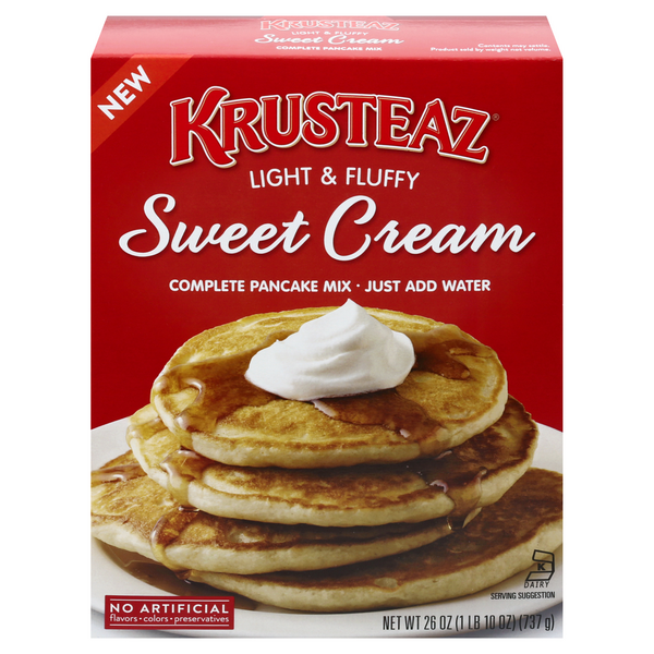Krusteaz Complete Pancake Mix Sweet Cream Light & Fluffy