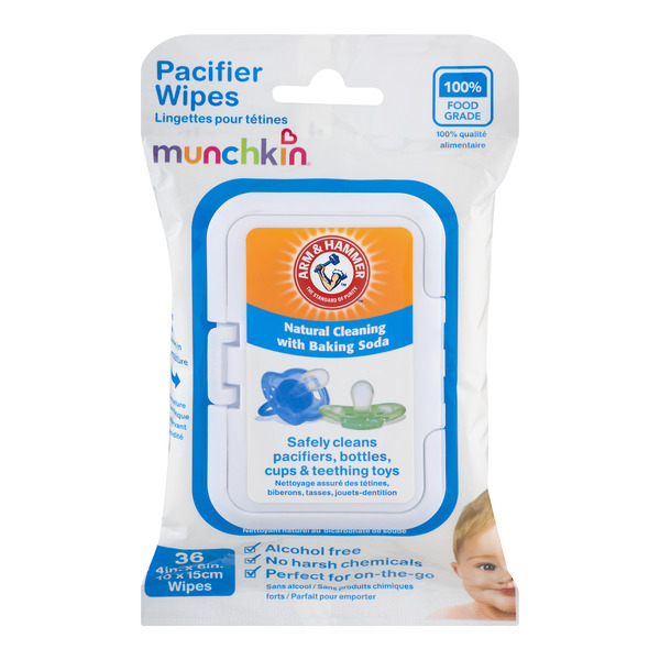 Munchkin Arm & Hammer Pacifier Wipes Alcohol Free