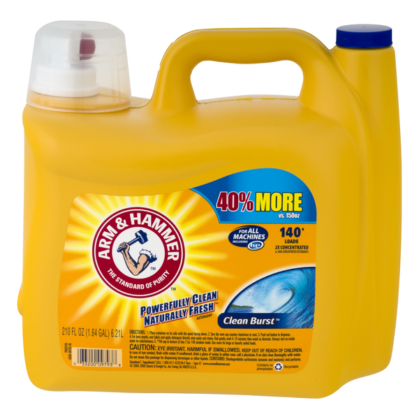 Arm & Hammer Laundry Detergent Liquid Clean Burst