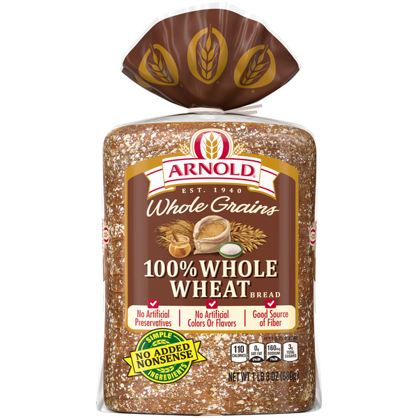 Arnold 100% Whole Wheat Bread Whole Grains