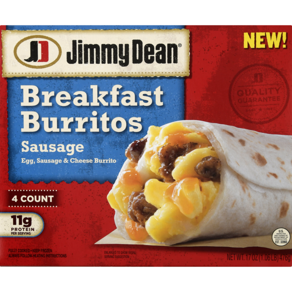 Jimmy Dean Breakfast Burritos Sausage - 4 ct