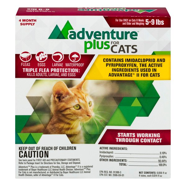 Adventure Plus for Cats Triple Flea Protection 5-9 lbs