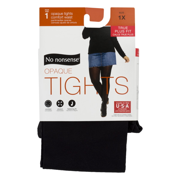 No nonsense Opaque Tights True Plus Fit Size 1X