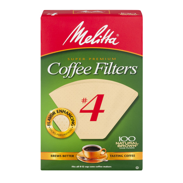 Melitta Coffee Filters Cone #4 Natural Brown