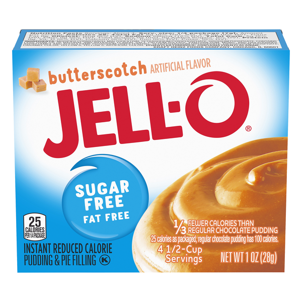 Jell-O Instant Pudding & Pie Filling Butterscotch Fat & Sugar Free