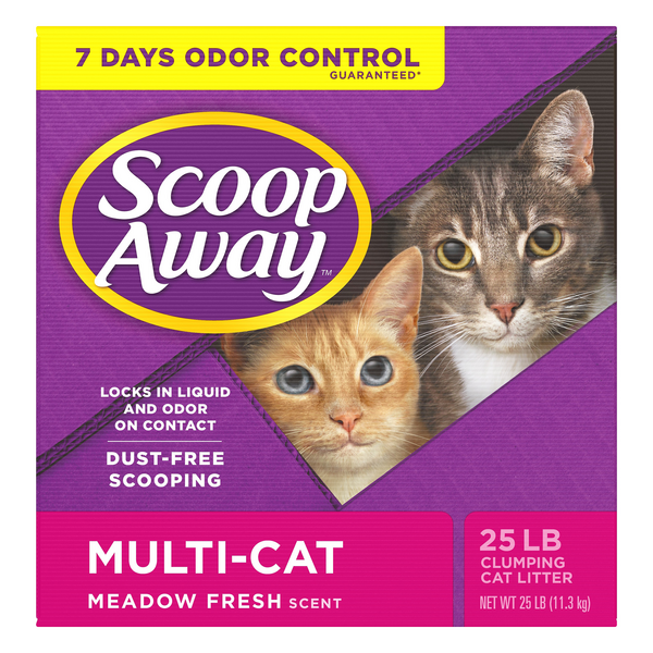 Scoop Away Multi-Cat Clumping Cat Litter Meadow Fresh