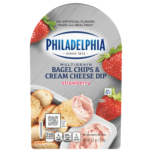 Philadelphia Bagel Chips & Cream Cheese Dip Strawberry