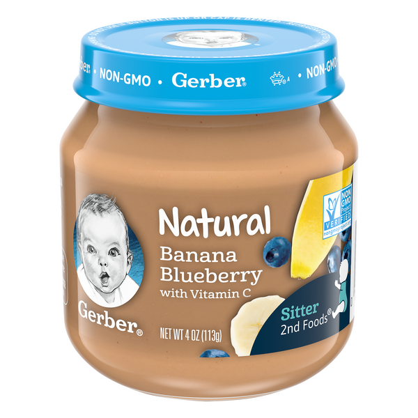 Gerber 2nd Baby Food Banana Blueberry Natural