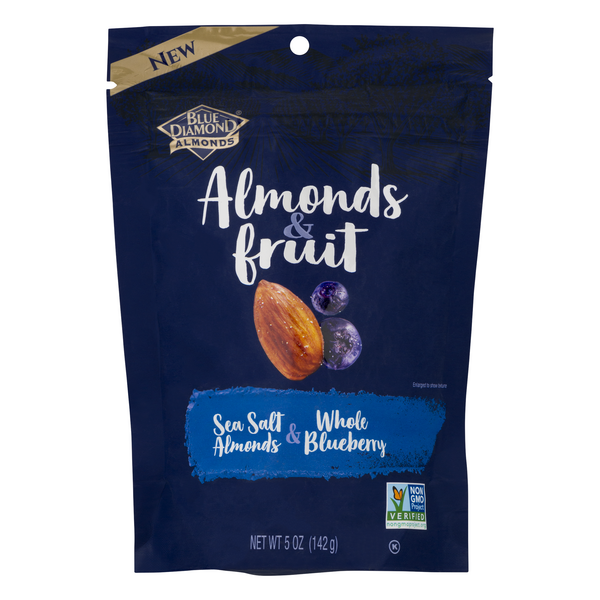Blue Diamond Almonds & Fruit Sea Salt & Whole Blueberry
