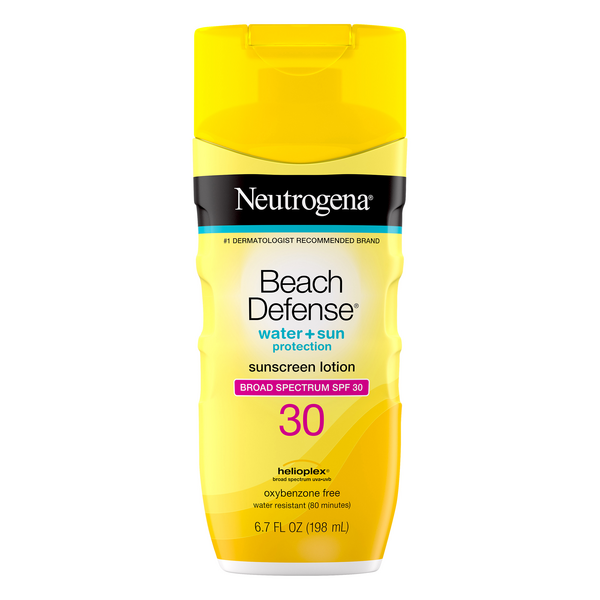 Neutrogena Beach Defense Sunscreen Lotion SPF 30 Water + Sun Protection