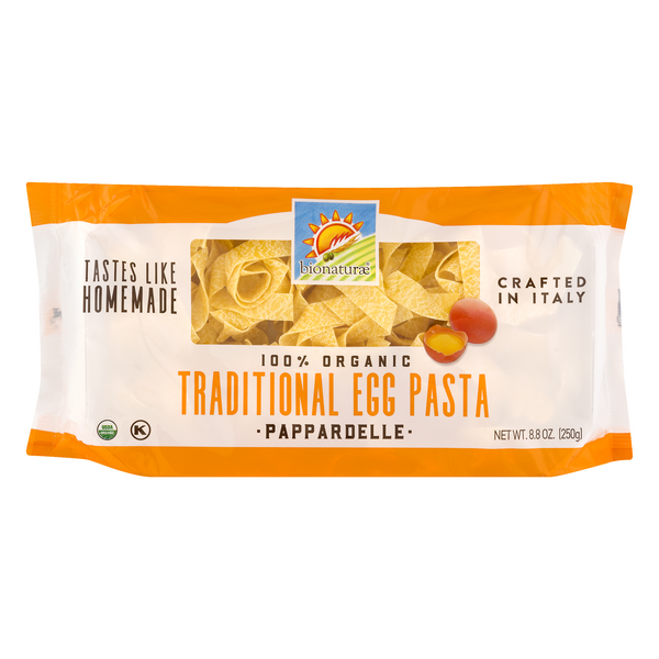 Bionaturae Traditional Egg Pasta Pappardelle 100% Organic