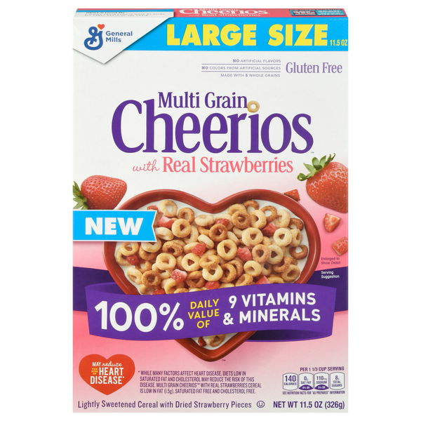 Cheerios Multi Grain Cereal with Real Strawberries Large Size