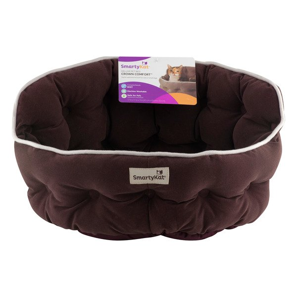 SmartyKat Deluxe Pet Bed Crown Comfort