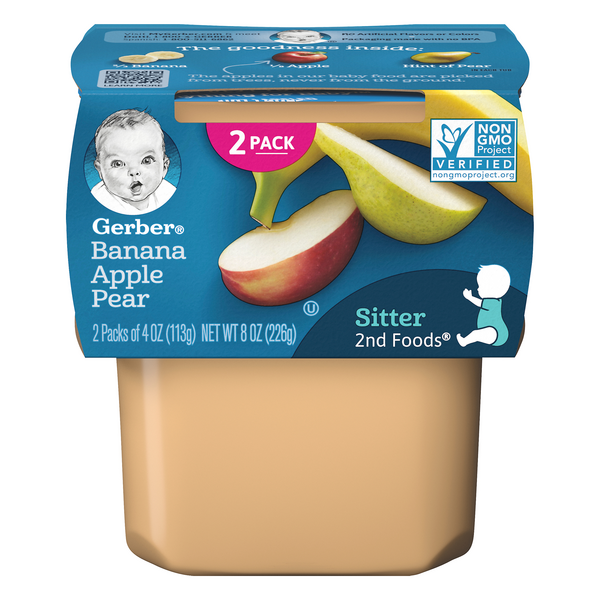 Gerber 2nd Baby Food Banana Apple Pear - 2 ct