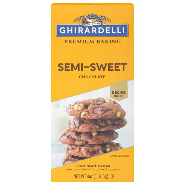 Ghirardelli Semi Sweet Chocolate Premium Baking Bar