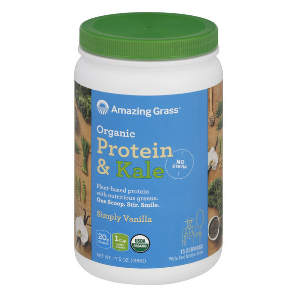 Amazing Grass Protein & Kale Protein Organic Simply Vanilla