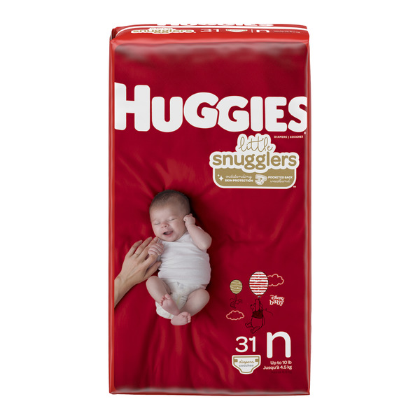 Huggies Little Snugglers Size N Newborn Diapers Up to 10 lbs