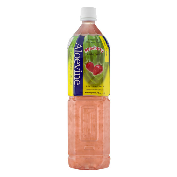 Aloevine Aloe Vera Drink Strawberry